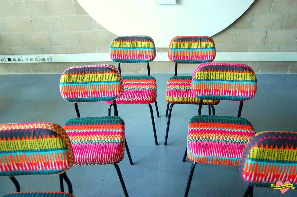 sillas retapizadas telas tribal