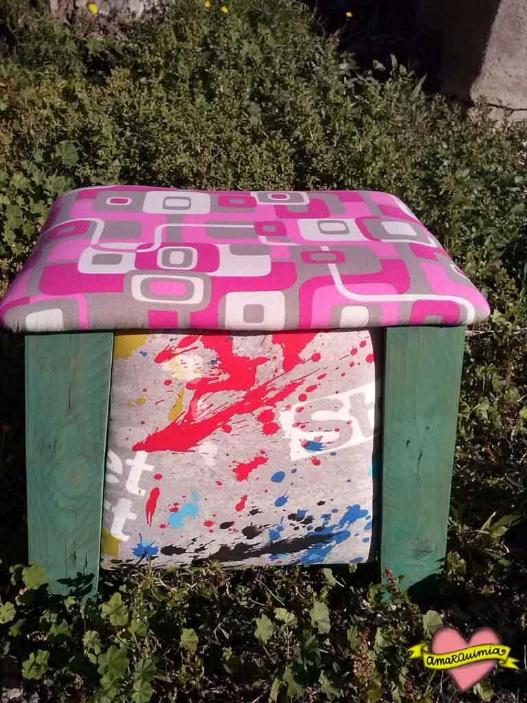 banquito del taller de reciclaje cartagena