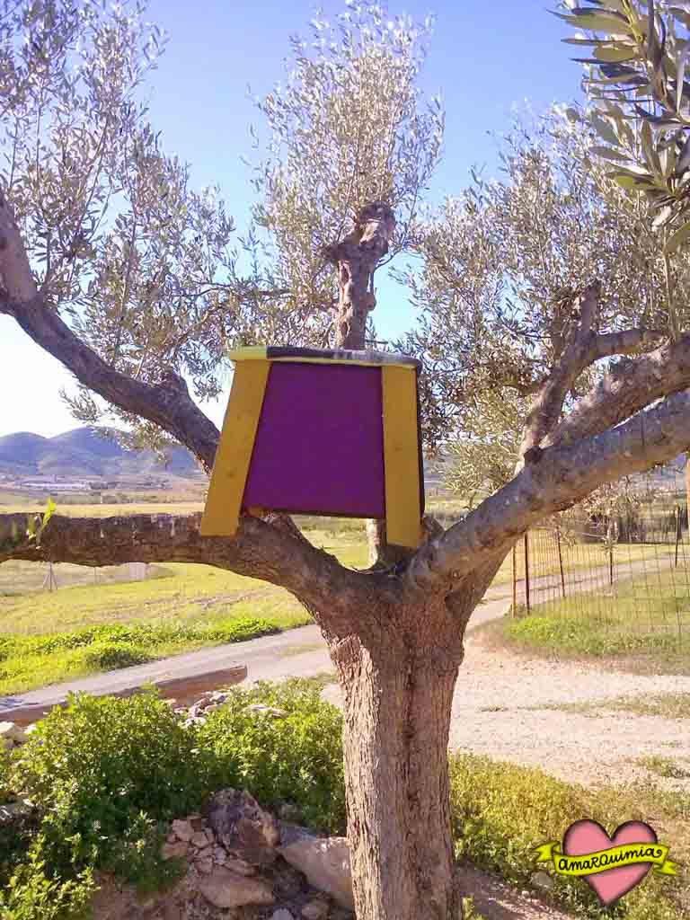 banquito en el árbol