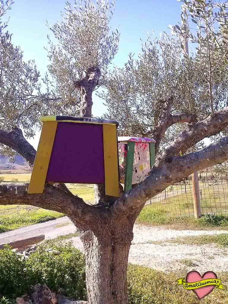 banquitos en el árbol