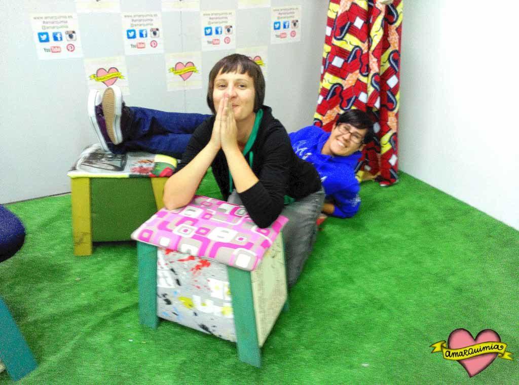 participantes taller reciclaje y tapiceria cartagena