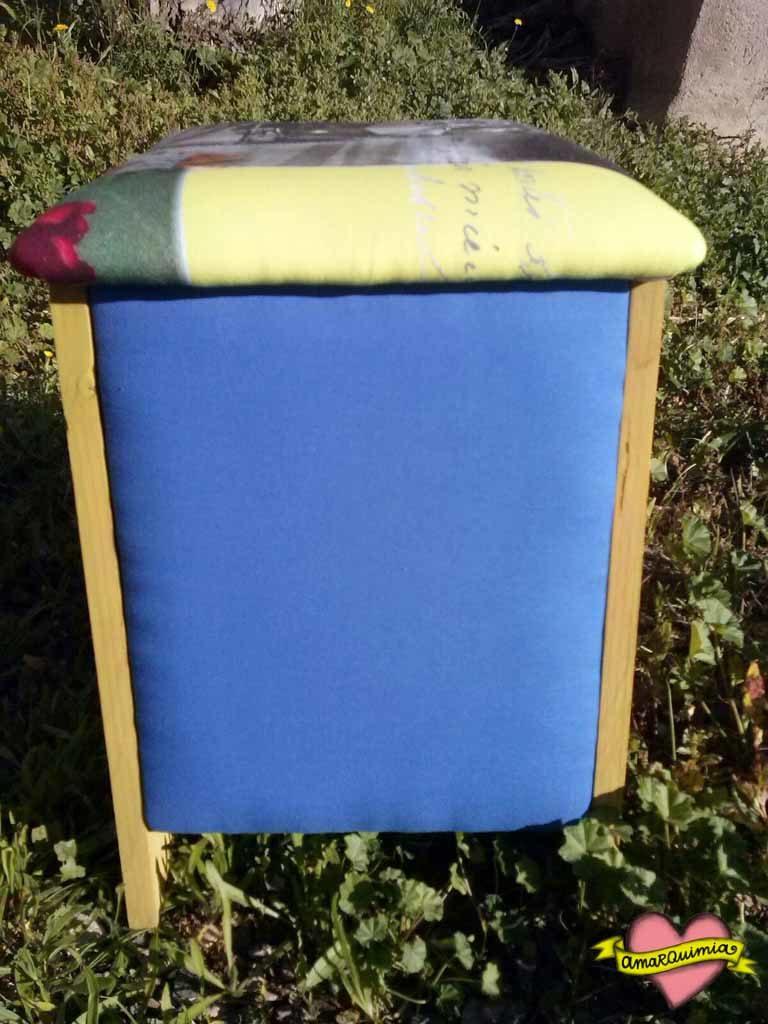 telas taller banquito reciclado