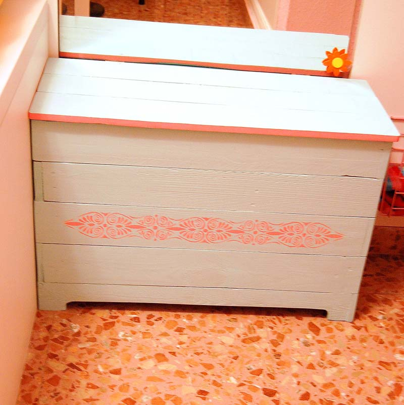 baúl de madera de palet diseño propio