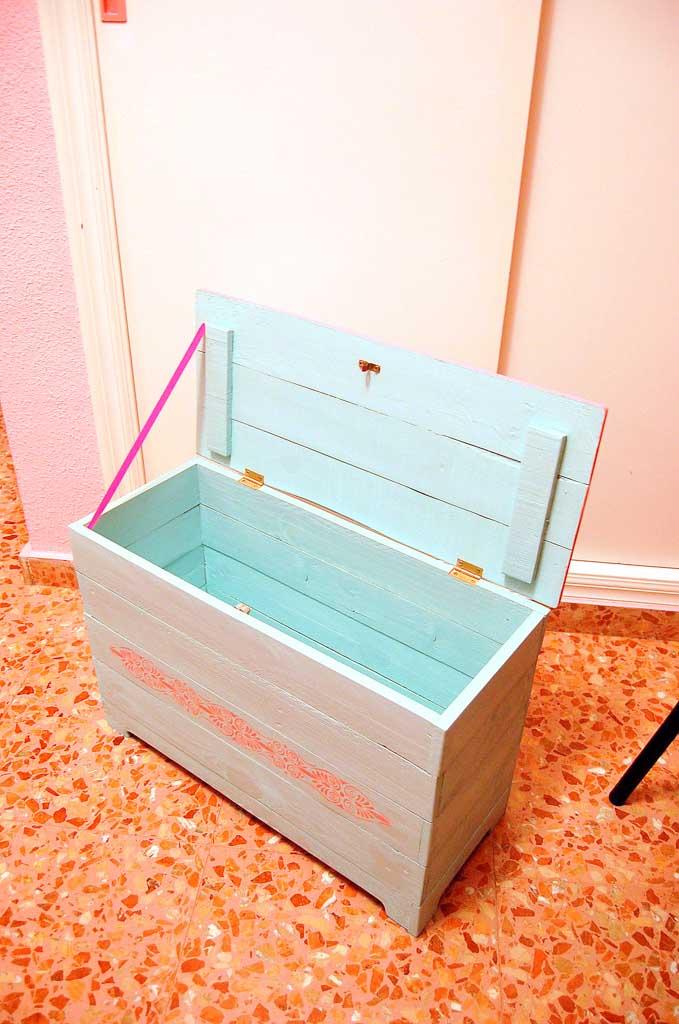 baúl madera de palet reciclaje por encargo