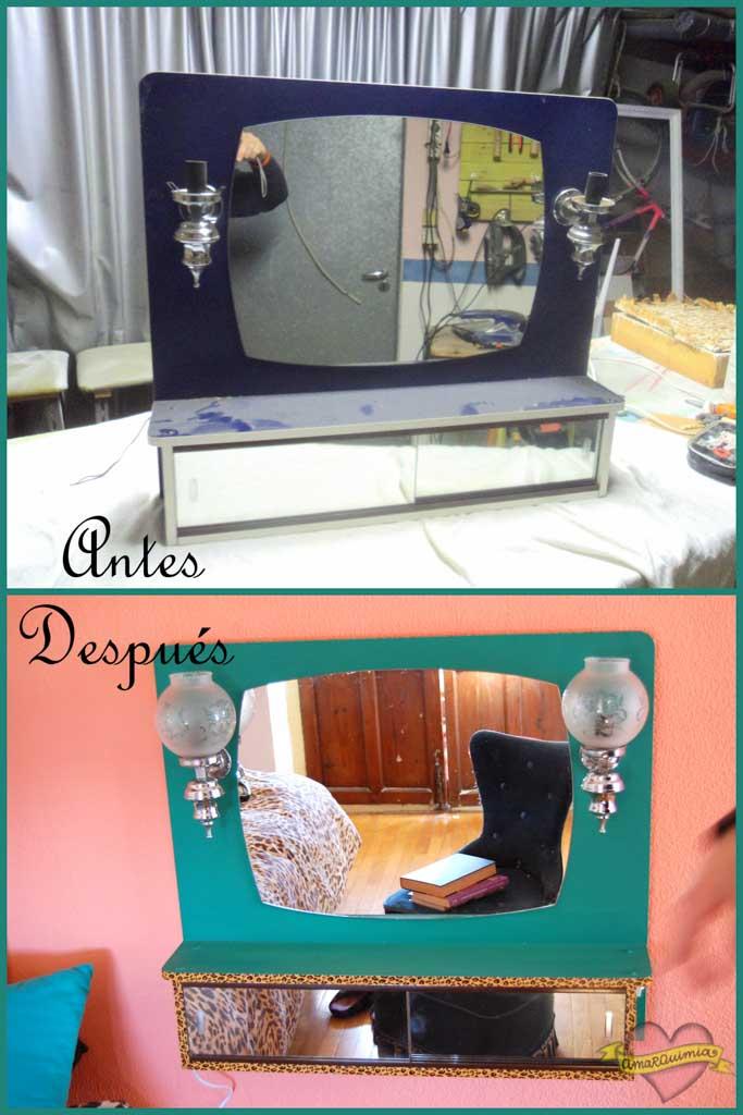 antes y después restauración y personalización mueble Romi