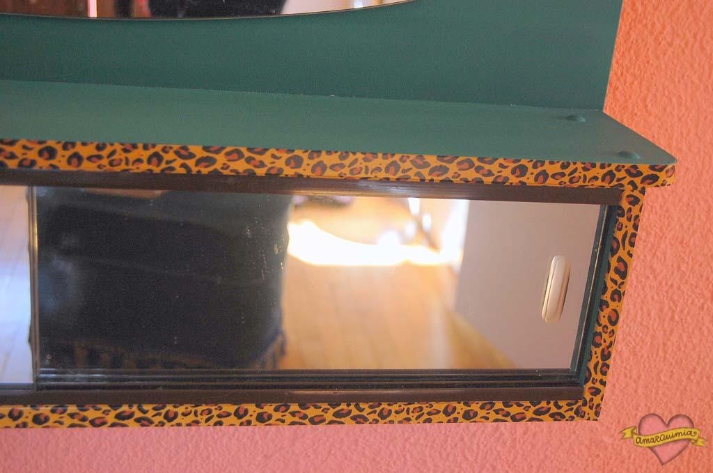 detalle espejos romi personalizado leopardo por encargo
