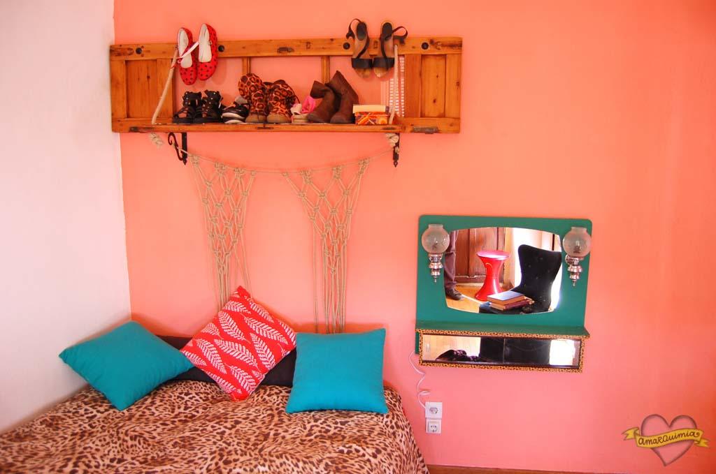 dormitorio vintage con romi transformado deco artesanía