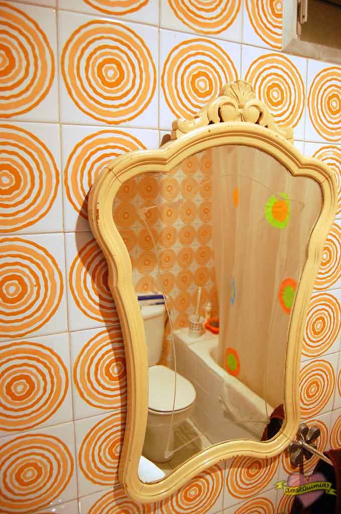 espejo vintage baño casa antigua centro de Alicante