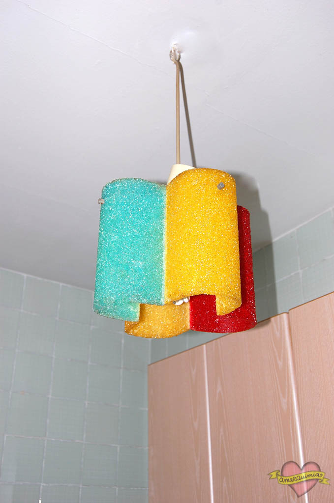 lámpara vintage años 60 para el baño