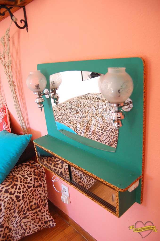 piezas deco vintage con leopardo