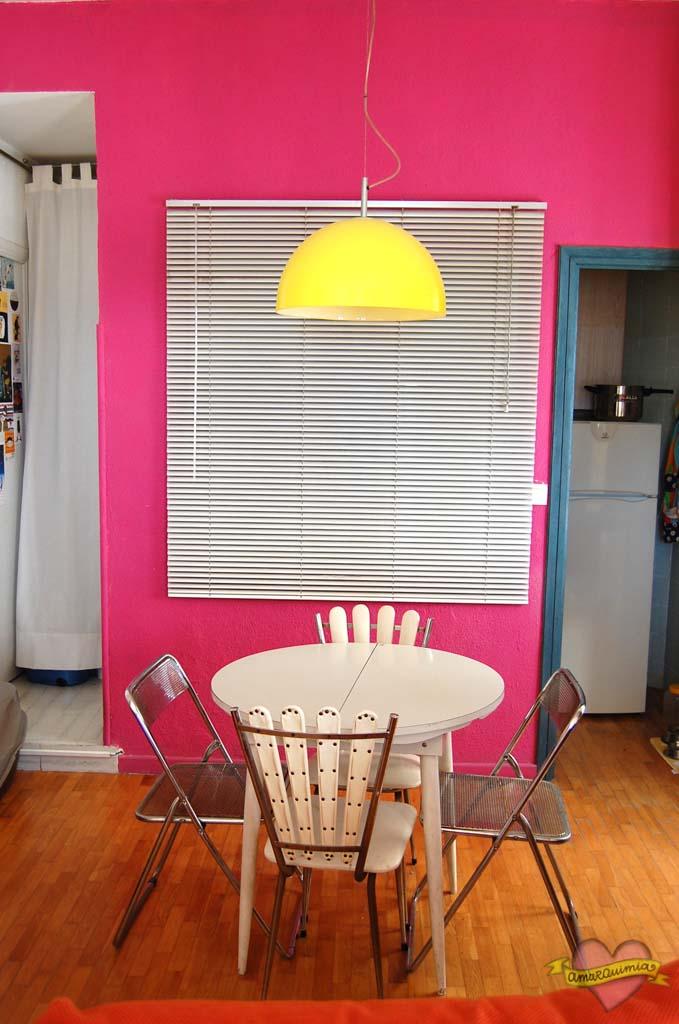 zona comedor vintage contraste color
