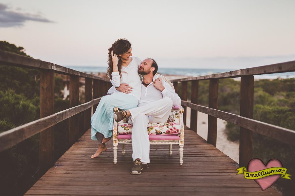 66-pareja clientes sesión fotos tapicería artística