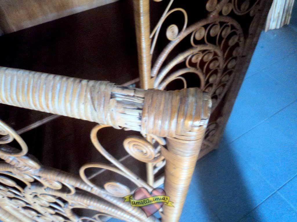 detalle armario de caña pendiente de restaurar Murcia