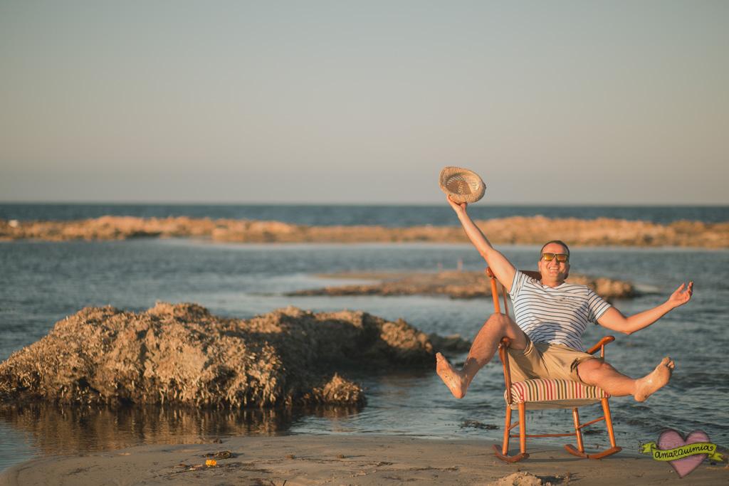 sesión de fotos mecedora Kennedy recuperada en la playa