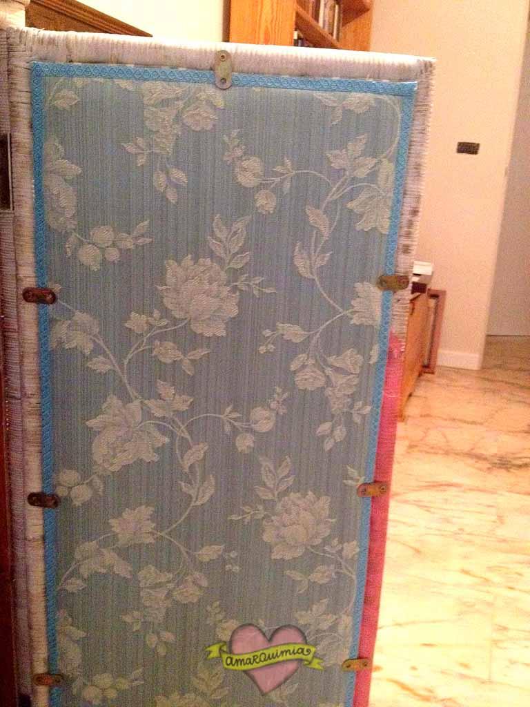 tapizado puertas armario de mimbre restaurado y transformado Murcia Cartagena Alicante