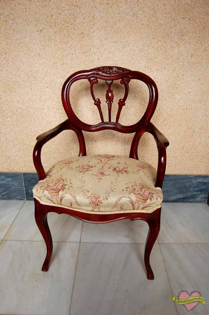 antes sillón antiguo para tapizar