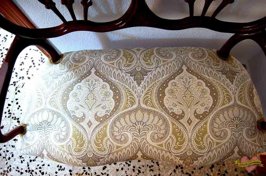 asesoramiento telas decoración tapizado sofá antiguo