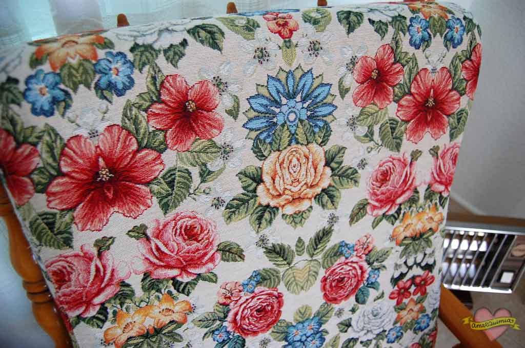 detalles telas decoración tapicería mecedoras