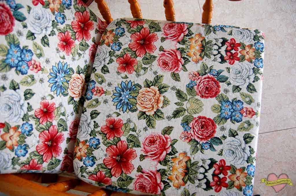 tela tapicería mecedoras antiguas cartagena Murcia Alicante