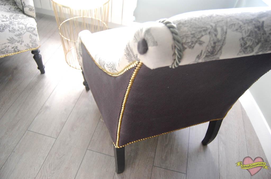 diseño y tapicería sillones antiguos