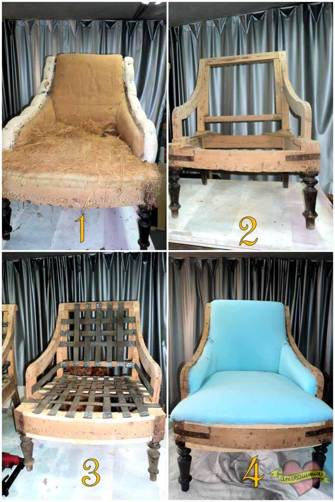 proceso tapicería descalzadoras antiguas