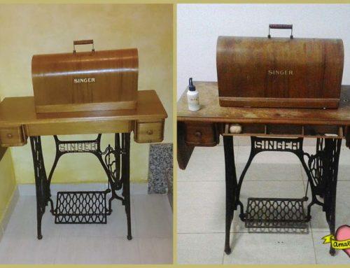 Restauración máquina de coser Singer