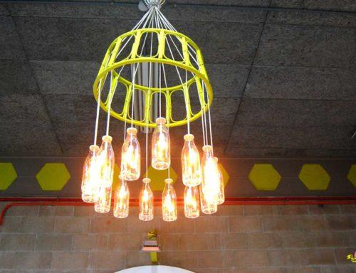 Pareja de lámparas de reciclaje para sala creativa CEEIC
