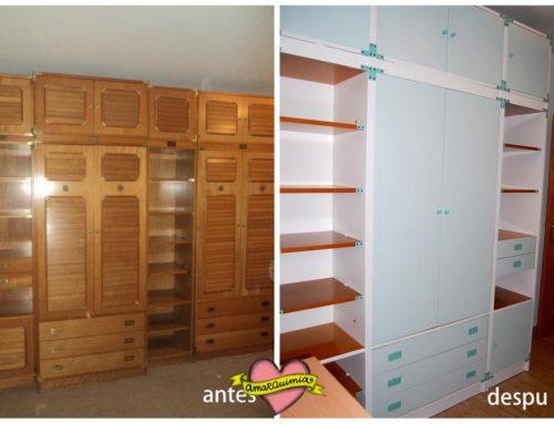 Diseño y transformación armario infantil tipo camarote en despacho de diseño