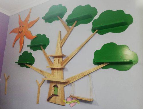 Decoración Herbolario con madera de palet