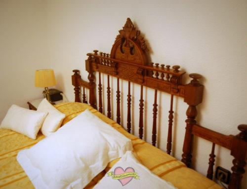 Transformación cama antigua de 1,35 m en cabecero de 1,80 m